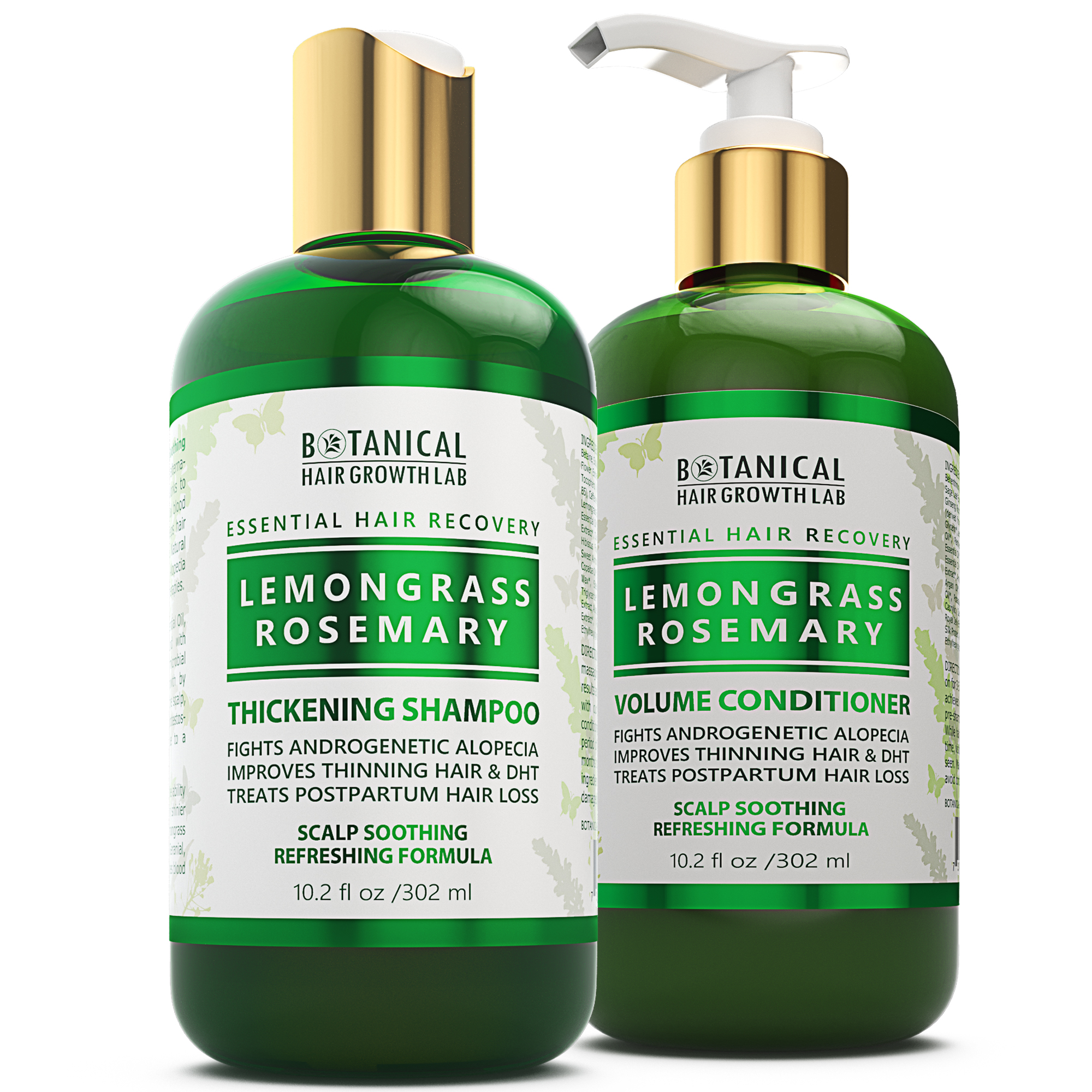 Essential Hair Recovery – Shampoo+Conditioner – Lemongrass & Rosemary / Scalp Soothing