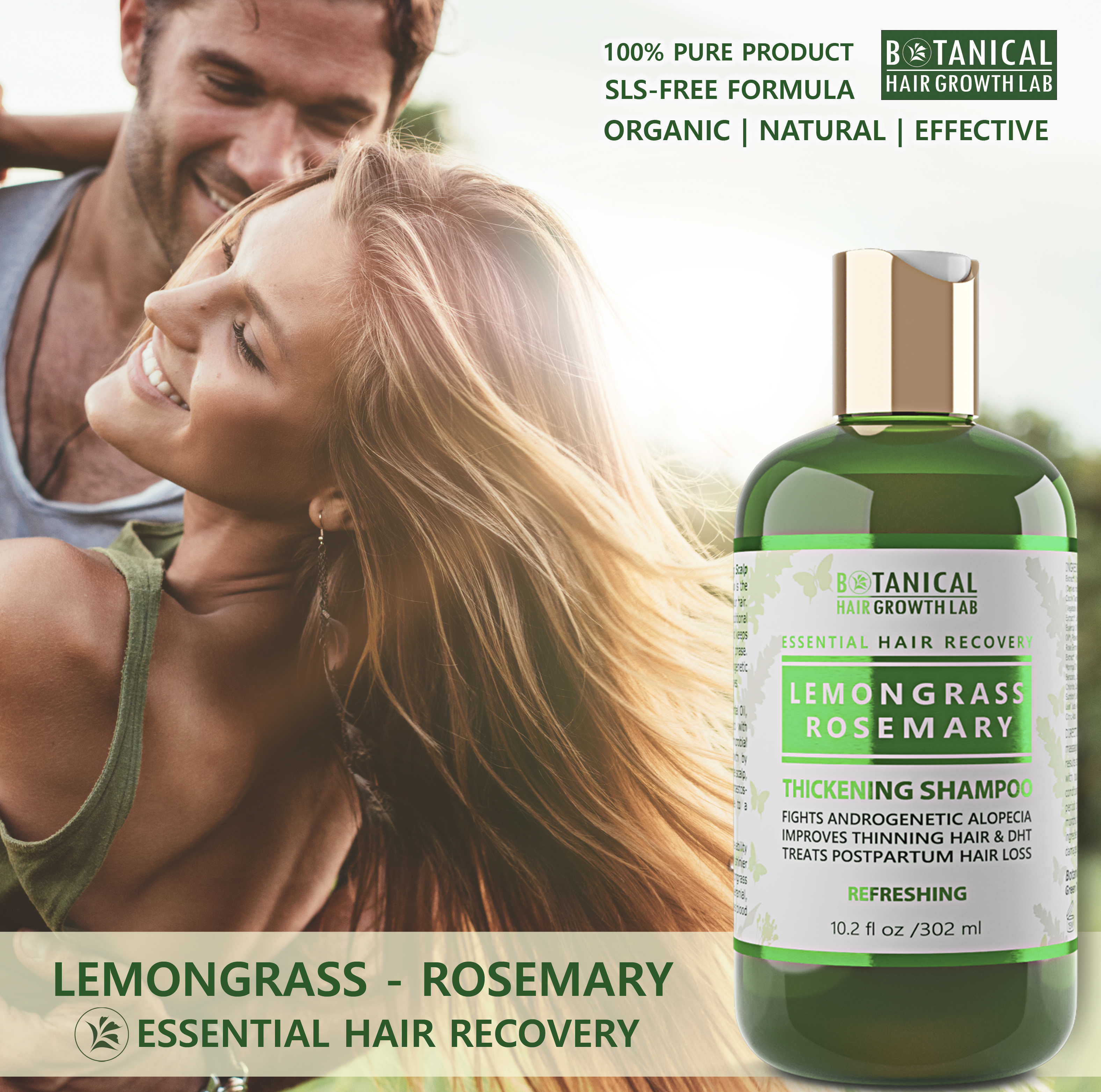 Hair Growth Thickening Shampoo Lemongrass & Rosemary /
